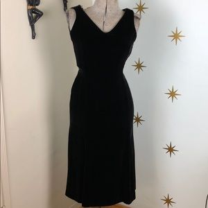 Vintage Doncaster black velvet wiggle dress